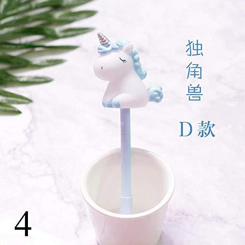 1pc Unicorn Gel Pens Multi Shape Silica Gel &Plastic Unicorn Pens for Kids Girls Gifts School Writing Supplies Stationery 4