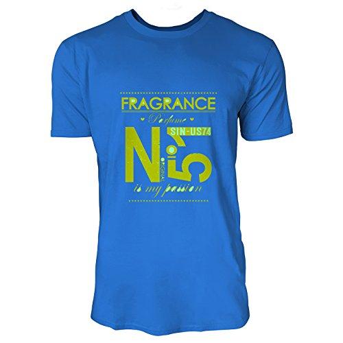 SINUS ART® Parfum No. 5´1 Is My Passion Herren T-Shirts in Blau Fun Shirt mit tollen Aufdruck