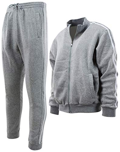 Mens Lightweight Soft and Durable Tracksuits and Sweatsuits (Many Styles to Choose from) (XL, 941-Grey)