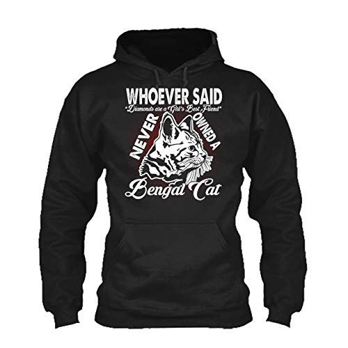 Bengal Cat Best Friend Tee Shirt, Long Sleeve Shirt, Hoodie (XL,Black)