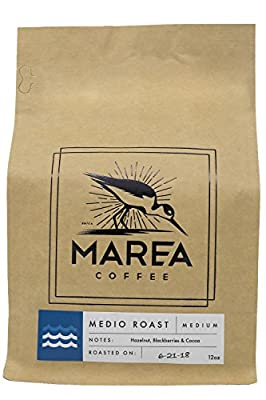 Marea Coffee, Medio Blend, Medium Roast, Whole Bean, 12 oz. Bag, Hazelnut, Blackberries & Cocoa