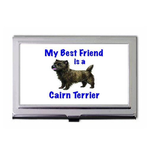 Cairn Terrier Business Card Holder (My Best Friend is Cairn Terrier Business Card Holder)