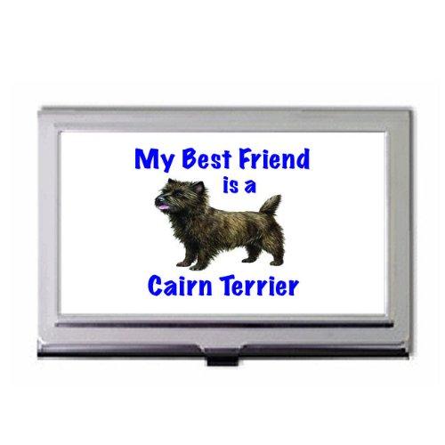 My Best Friend is Cairn Terrier Business Card Holder ()