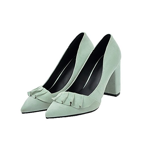 on Verdi pompe Soild Donne Tacchi Weipoot Toe pull Sottolineato Scarpe xB4xUYw7q