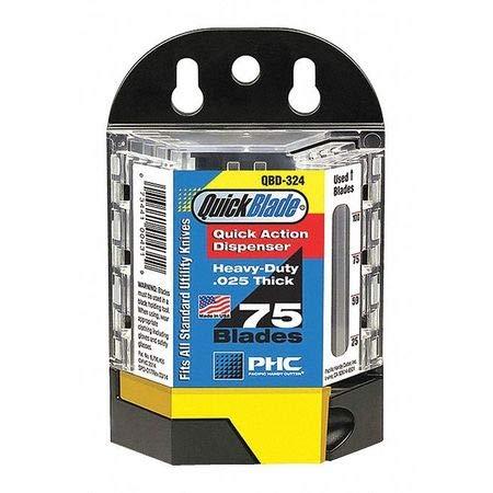 QBD-324 Quickblade Blade Dispenser, Blk/Clr, PK75