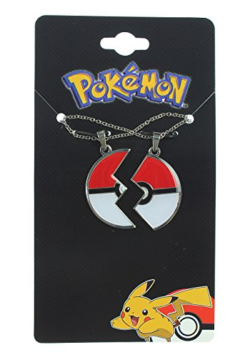 Pokemon Poke Ball Best Friends Necklace 2 Pack