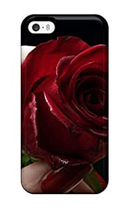 Amanda W. Malone's Shop 7370388K93251559 Iphone 5/5s Case Slim [ultra Fit] Red Rose & Red Lips Protective Case Cover