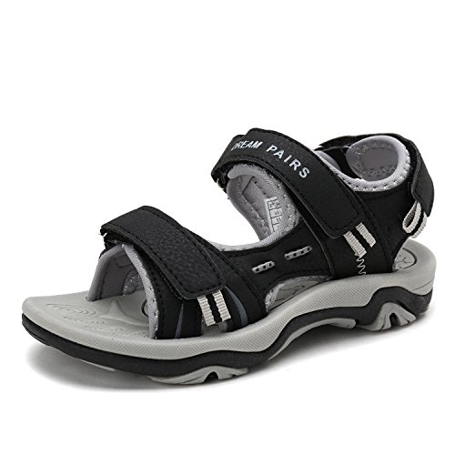 Price comparison product image DREAM PAIRS Little Kid 170891_K Black Lt.Grey Fashion Athletic Sandals Size 1 M US Little Kid