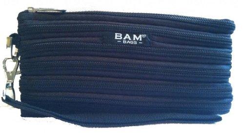 BAM Bags Women's Wristlet/Make-up Bag Nylon Black One Size (Handbag Bags Bam)