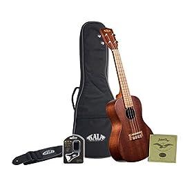 Kala KA-15 Concert Ukulele Bundle (Included Gig Bag, Tuner, Strap & String) Natural Mahogany