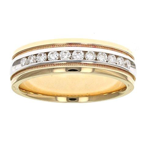 Men's 1/2 CT SI1 14K Gold Diamond Wedding Band in Size 10