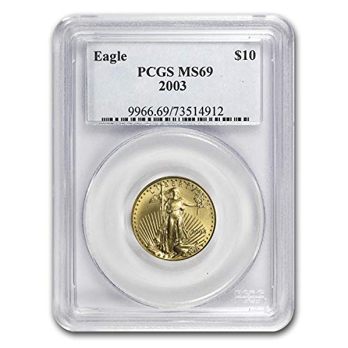 2003 1/4 oz Gold American Eagle MS-69 PCGS Gold MS-69 PCGS