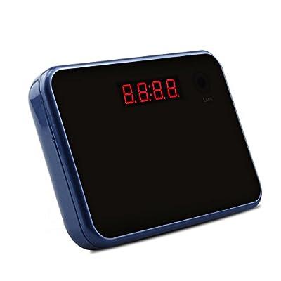 Monuen Wi-Fi Hidden Camera Alarm Clock Full HD Spy Camera Motion Activated Camera Home Nanny Camera Blue from Monuen
