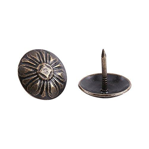 100pcs Vintage Bronze Upholstery Nail Tack Stud for Wood Furniture Decor