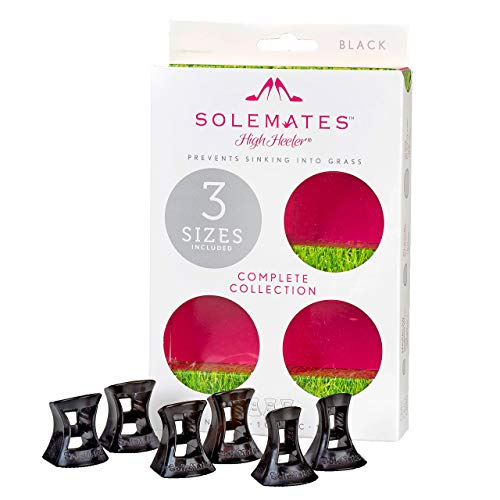 Solemates Heel Protectors High Heel Stoppers (Narrow, Classic, Wide, Black)