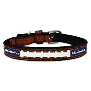 NFL Seattle Seahawks Classic Leather Football Collar, Toy