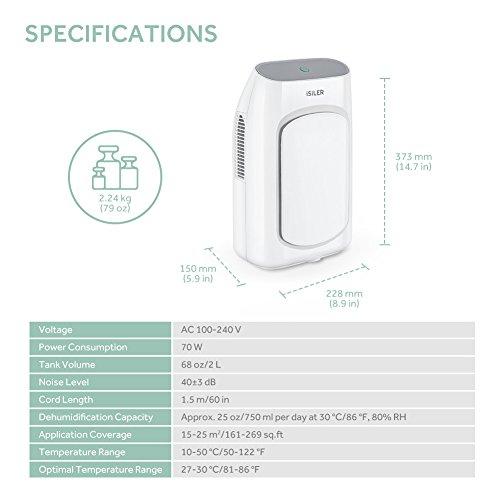 Electric Dehumidifier Isiler Portable Dehumidifier With