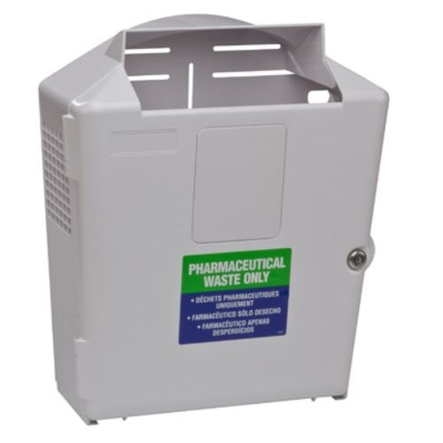 (Covidien 88361H SharpSafety Wall Enclosure, For Pharmaceutical Waste Container, 3 gal Capacity)