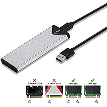Amazon.com: M.2 SATA SSD to USB 3.0 External SSD Reader ...