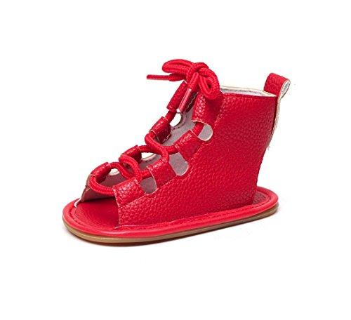 IGEMY Kinder Baby Casual Sandalen Verband Kreuz-gebunden Sohle Krippe Hohl  Kinder Schuhe Rot 7cc9c47ad0