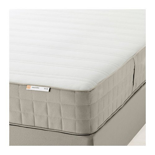 Ikea HASVÅG Spring mattress (queen size), medium firm, beige 1228.22314.234