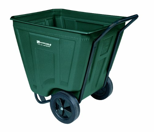 Akro-Mils 76460 30-1/2-Inch W by 48-Inch D by 33-1/2-Inch H 60 Gallon Akro-Cart Medium Duty Plastic Waste Transport Cart, Green