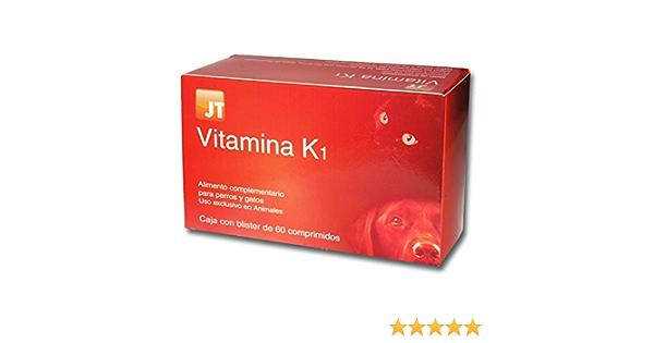 JTPharma Vitamina K1 Razas Pequeñas - 60 Comprimidos, Multicolor