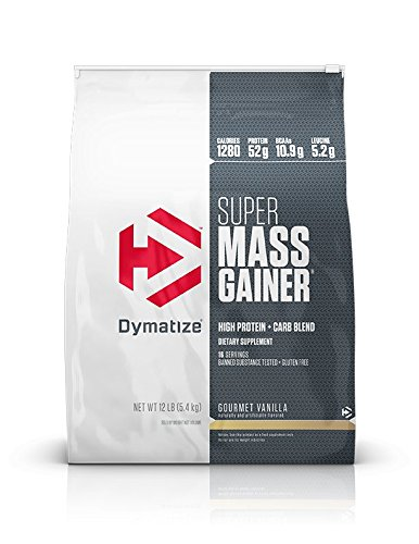 Dymatize Super Mass Gainer Protein Powder with 1280 Calories Per Serving, Gain Strength & Size Quickly, Gourmet Vanilla, 12 lbs (Best Mass Gainer Ever)