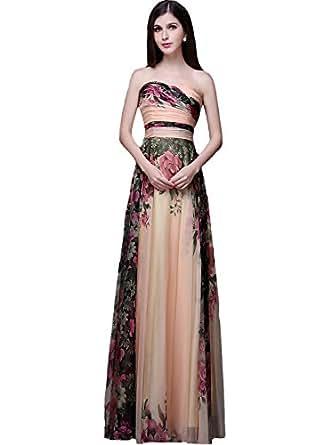Amazon.com: Angel Formal Dresses Women's Floral Print Long ... - photo #38