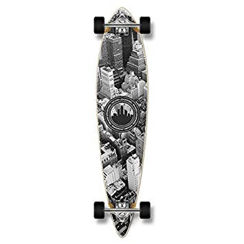 Special Graphic Complete Longboard PINTAIL skateboard w 70mm wheels New York