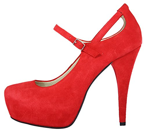Christian Cole Damen High Heels Rot CC202125