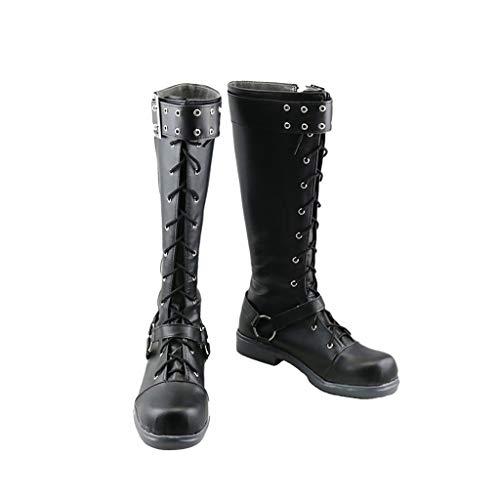 DUNHAO COS The Day Breakers Persona 5 Futaba Sakura Halloween Cosplay Shoes Boots Male US 10/EU45 Black -