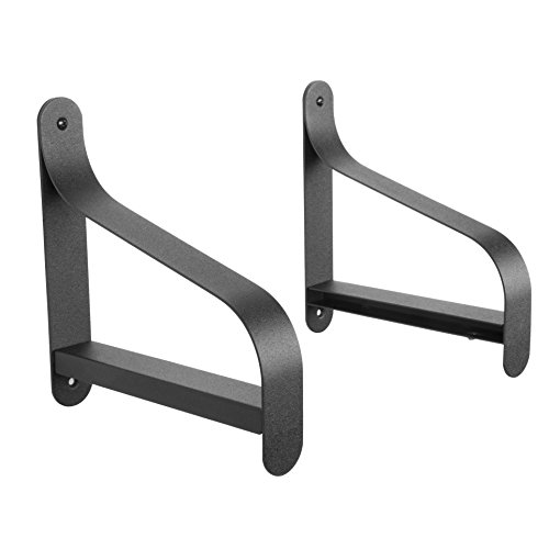 ArtifactDesign Metal Shelf Brackets with Modern Heavy Duty Design Fits Wood Shelves Perfect for Bookcase TV Storage Rack Garage Wall Mounting Pack of 2 (7.5 - Do Fix How Glasses You