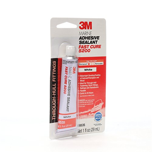 3M 5200FC Marine Adhesive Sealant 5200 Fast Cure White, 06535, 1 oz tube (Pack of 1) from 3M
