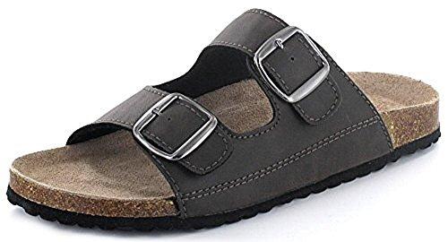 Indigo Schuhe Tieffussbett Pantoletten Braun
