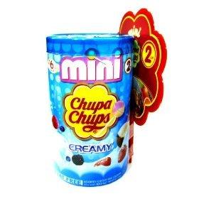 56 Assorted Flavor Mini Lollipops Creamy Chupa Chups Lollipop Hard Candy Popular Product of Thailand