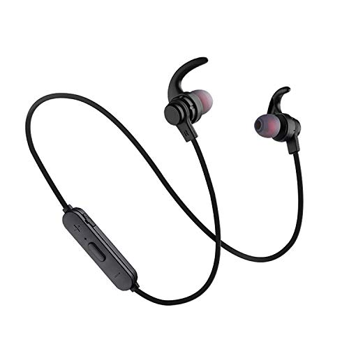Bluetooth Headphones, Wireless Sports Earphones,with Mic IPX5 Waterproof HD Stereo Sweatproof Earbuds,Gym Running Workout Noise Cancelling Headsets Black