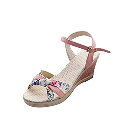 TOOPOOT Women's Open Toe High Heel Sandles Wedge Sandals