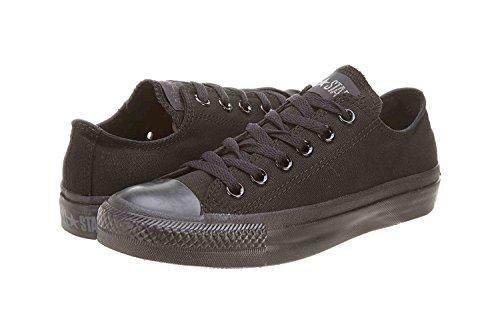 Omgekeerde Unisex Chuck Taylor All Star Lage Top Zwart Monochroom Sneakers - 8 Heren 10 Dames