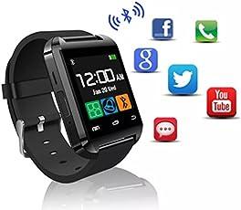 Smartwatch MyTECH U Bluetooth Pantalla Touch Reloj Inteligente - Compatible iOS/Android (Negro)