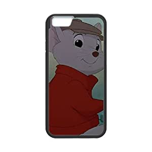 iPhone 6 Plus 5.5 Inch Cell Phone Case Black The Rescuers Character Bernard Design Customized Phone Case Cover CZOIEQWMXN0582