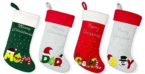 Red Bene Family Christmas Stockings Family Set of