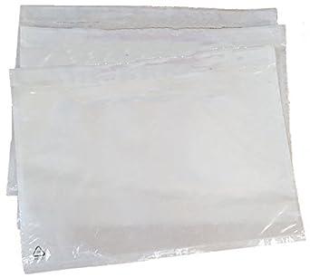 Paquete de 100 Bolsas adhesivas portadocumentos Sobres de ...