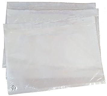 100 selbstklebende Dokumententaschen Lieferscheintaschen Transparent klar (225x166mm A5) SafePostBags®
