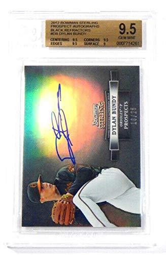 2012 Bowman Sterling Dylan Bundy Black Prospect Refractors Rookie Auto /25 - Baseball Cards