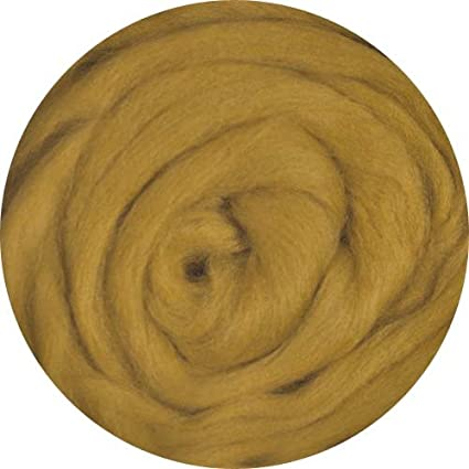 1 Ounce Mustard Merino Wool Roving for Felting