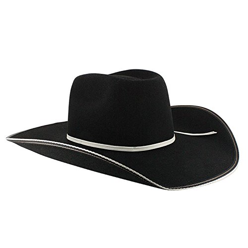 - Resistol Men's Snake Eyes Wool Cowboy Hat Black 6 7/8