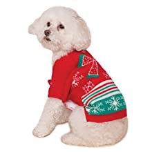 Rubie's Xmas Ugly Sweater with Bow, Extra-Large
