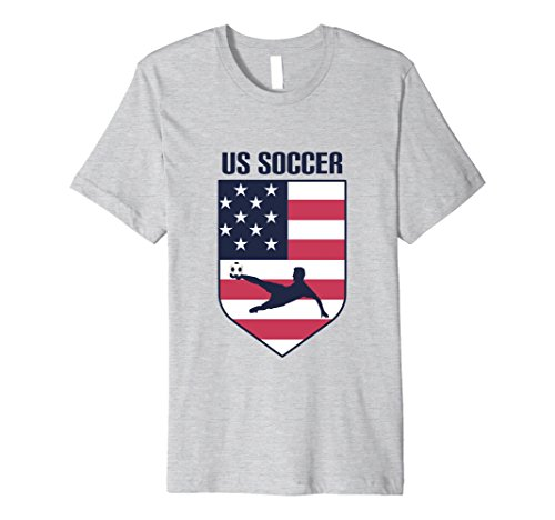 Mens Premium Usa Soccer T Shirt   Fashionable Us Soccer Shirt Medium Heather Grey