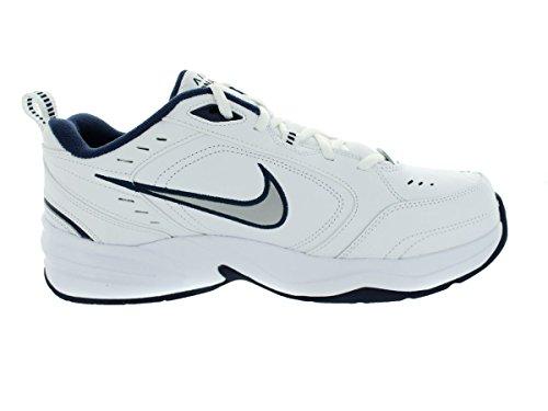 Nike Air Monarch IV Herren Weiß Breit Turnschuhe Schuhe Neu EU 40